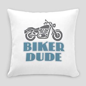Biker Dude Everyday Pillow