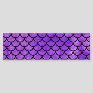 SCALES1 BLACK MARBLE & PURPLE WAT Sticker (Bumper)