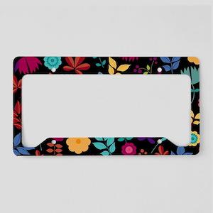 Modern Chic Floral Pattern License Plate Holder