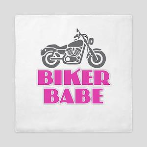 Biker Babe Queen Duvet