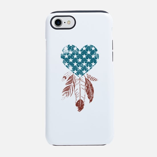 Patriotic Heart iPhone 7 Tough Case