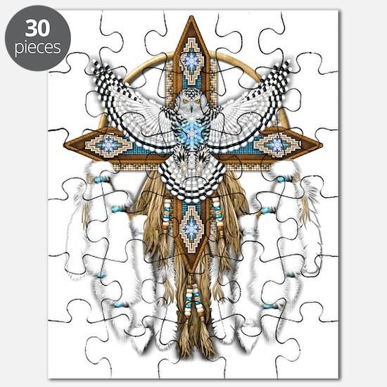 Snowy Owl Mandala Puzzle