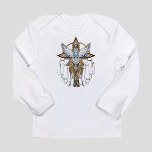 Snowy Owl Mandala Long Sleeve T-Shirt
