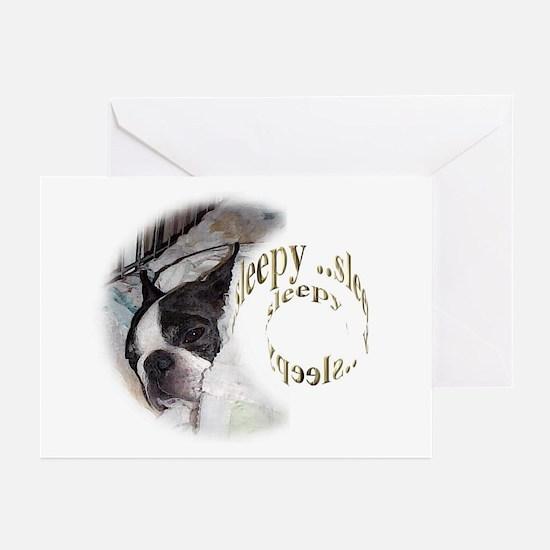 Sleeping Dog- Sleepy 2 Greeting Cards (Package of