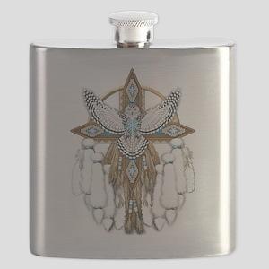 Snowy Owl Mandala Flask