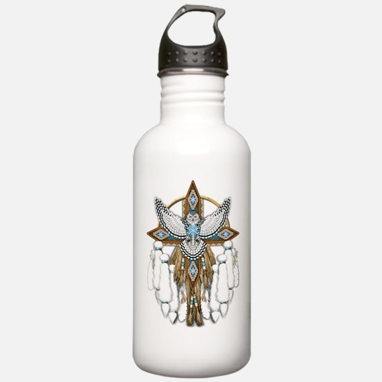 Snowy Owl Mandala Water Bottle