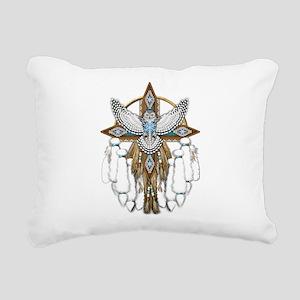Snowy Owl Mandala Rectangular Canvas Pillow