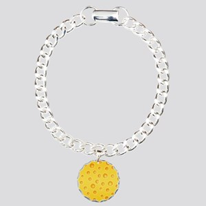 Swiss Cheese Cheezy Texture Pattern Bracelet