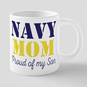 Navy Mom Proud of Son Mugs