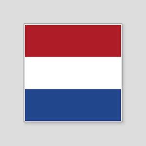 "Netherlands Flag Square Sticker 3"" x 3"""