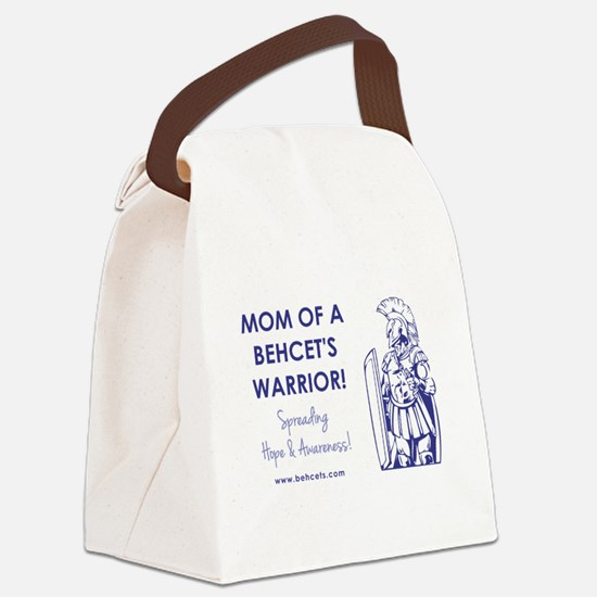 MOM OF A WARRIOR Canvas Lunch Bag