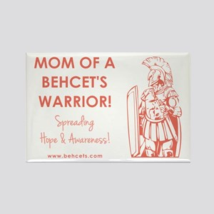 MOM OF A WARRIOR Rectangle Magnet
