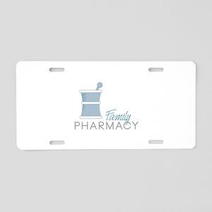 Family Pharmacy Aluminum License Plate