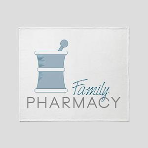 Family Pharmacy Throw Blanket