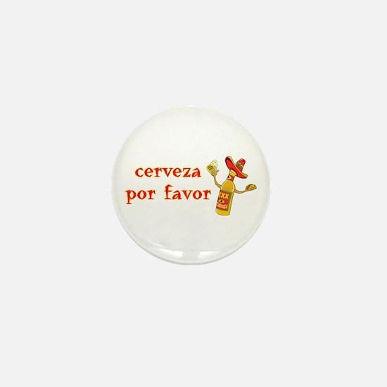 Cerveza Por Favor @Scott Designs Mini Button