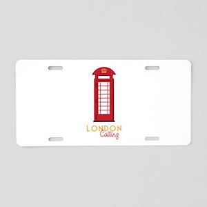 London calling Aluminum License Plate