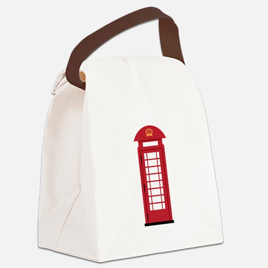 Telephone Booth Canvas Lunch Bag