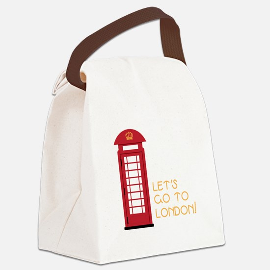 Lets go to london Canvas Lunch Bag
