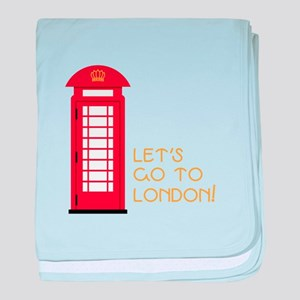 Lets go to london baby blanket