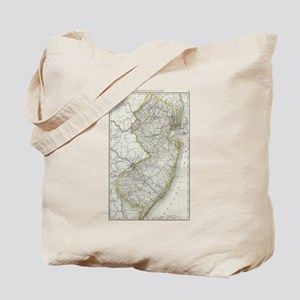Vintage Map of New Jersey (1889) Tote Bag