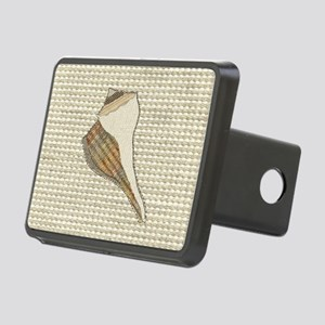 Stitched Faux Fabric Whelk Rectangular Hitch Cover