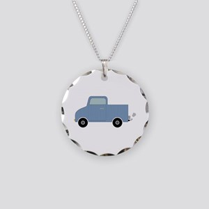 Striped Pick-Up Truck Necklace