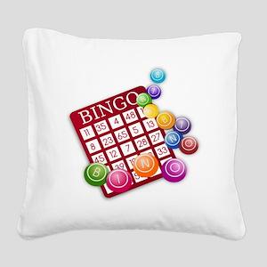 Bingo Square Canvas Pillow