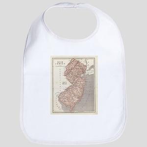 Vintage Map of New Jersey (1845) Bib