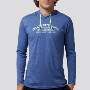 Introverts Unite Mens Hooded Shirt