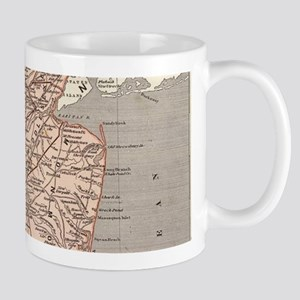 Vintage Map of New Jersey (1845) Mugs