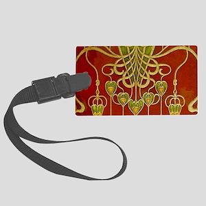 Art Nouveau Wallpaper Luggage Tag