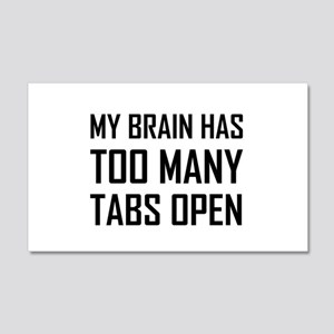 My Brain Too Many Tabs Open Wall Decal
