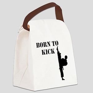 Martial Arts Man Canvas Lunch Bag