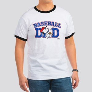 Snoopy Baseball Dad Ringer T