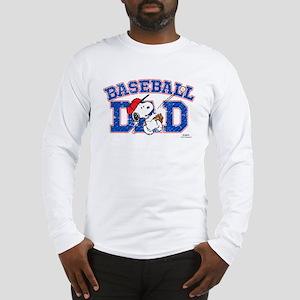 Snoopy Baseball Dad Long Sleeve T-Shirt