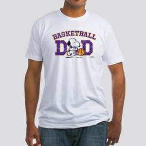 Snoopy Basketball Dad Fitted T-Shirt