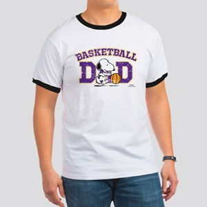 Snoopy Basketball Dad Ringer T