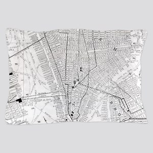 Vintage Map of New York City (1911) Pillow Case