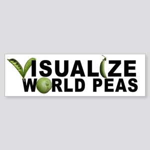 VISUALIZE WORLD PEAS Bumper Sticker