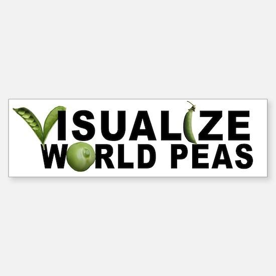VISUALIZE WORLD PEAS Bumper Bumper Bumper Sticker