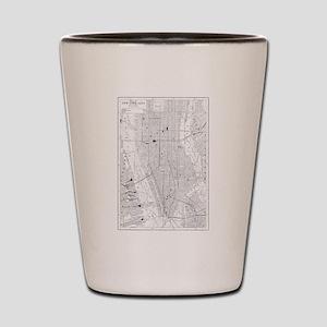 Vintage Map of New York City (1911) Shot Glass