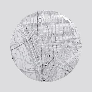 Vintage Map of New York City (191 Ornament (Round)