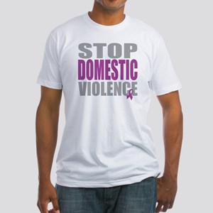 Stop Domestic Violence Fitted T-Shirt