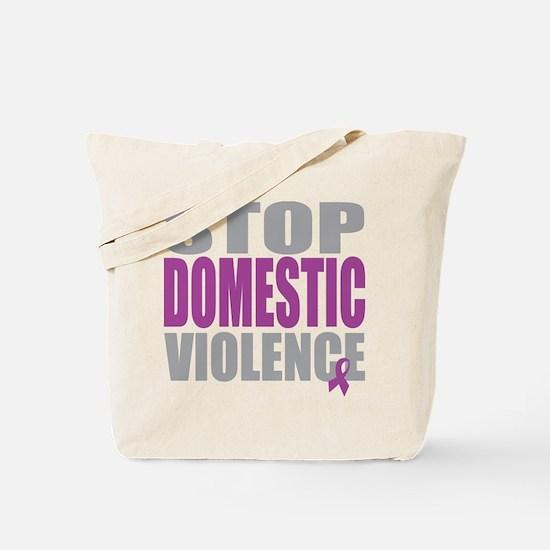 Stop Domestic Violence Tote Bag