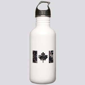 Canadian Flag Fall Bru Stainless Water Bottle 1.0L