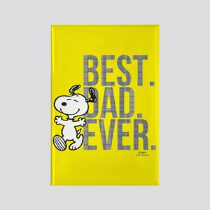 Snoopy Best Dad Ever Rectangle Magnet