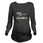 Halibut Long Sleeve Maternity T-Shirt