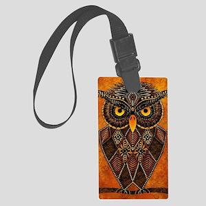Owl Large Luggage Tag