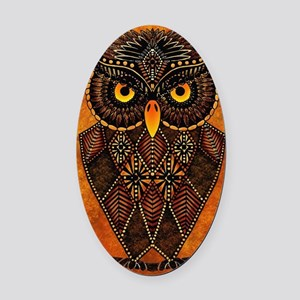 Owl Oval Car Magnet