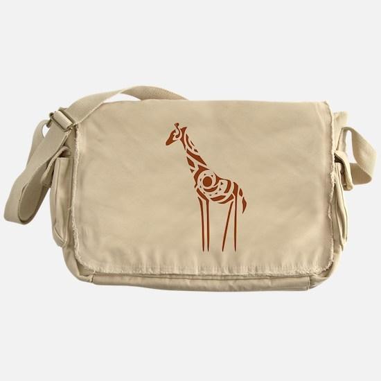 Tribal Giraffe Messenger Bag
